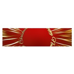 Christmas Greeting Card Star Satin Scarf (Oblong)