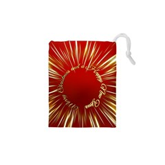Christmas Greeting Card Star Drawstring Pouches (XS)