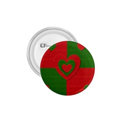 Christmas Fabric Hearts Love Red 1.75  Buttons