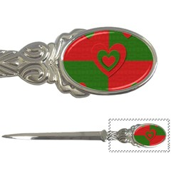 Christmas Fabric Hearts Love Red Letter Openers