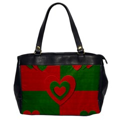 Christmas Fabric Hearts Love Red Office Handbags