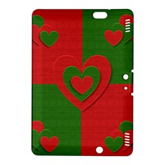 Christmas Fabric Hearts Love Red Kindle Fire Hdx 8 9  Hardshell Case