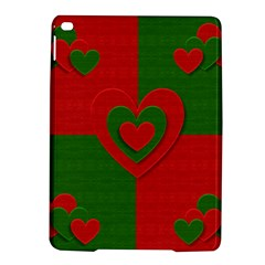 Christmas Fabric Hearts Love Red Ipad Air 2 Hardshell Cases