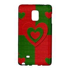 Christmas Fabric Hearts Love Red Galaxy Note Edge