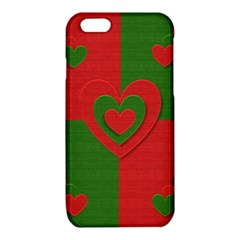 Christmas Fabric Hearts Love Red iPhone 6/6S TPU Case