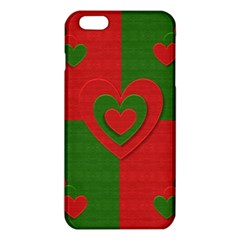 Christmas Fabric Hearts Love Red iPhone 6 Plus/6S Plus TPU Case
