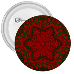 Christmas Kaleidoscope Art Pattern 3  Buttons