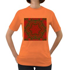 Christmas Kaleidoscope Art Pattern Women s Dark T-Shirt