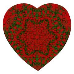 Christmas Kaleidoscope Art Pattern Jigsaw Puzzle (heart)