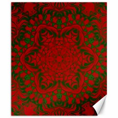 Christmas Kaleidoscope Art Pattern Canvas 8  x 10