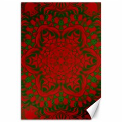 Christmas Kaleidoscope Art Pattern Canvas 12  x 18