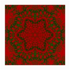 Christmas Kaleidoscope Art Pattern Medium Glasses Cloth (2-Side)