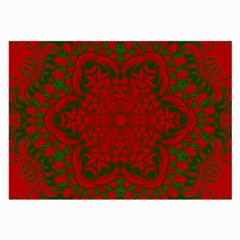 Christmas Kaleidoscope Art Pattern Large Glasses Cloth (2-Side)