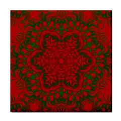 Christmas Kaleidoscope Art Pattern Face Towel