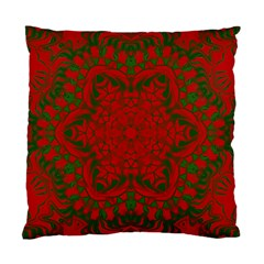 Christmas Kaleidoscope Art Pattern Standard Cushion Case (Two Sides)