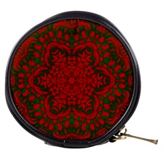 Christmas Kaleidoscope Art Pattern Mini Makeup Bags