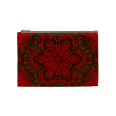 Christmas Kaleidoscope Art Pattern Cosmetic Bag (Medium)