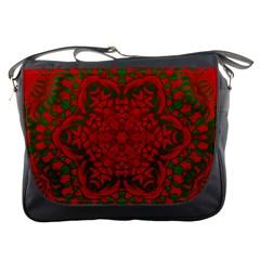 Christmas Kaleidoscope Art Pattern Messenger Bags