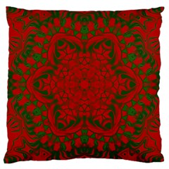 Christmas Kaleidoscope Art Pattern Large Cushion Case (one Side)