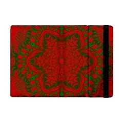 Christmas Kaleidoscope Art Pattern Apple Ipad Mini Flip Case