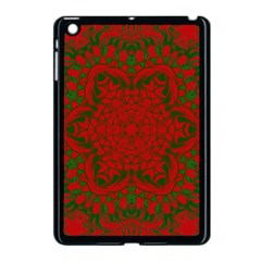 Christmas Kaleidoscope Art Pattern Apple iPad Mini Case (Black)