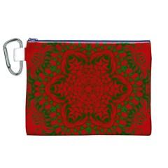 Christmas Kaleidoscope Art Pattern Canvas Cosmetic Bag (xl)