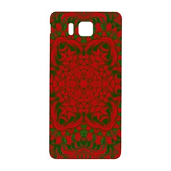 Christmas Kaleidoscope Art Pattern Samsung Galaxy Alpha Hardshell Back Case