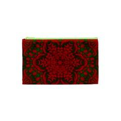 Christmas Kaleidoscope Art Pattern Cosmetic Bag (XS)