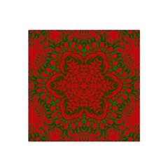 Christmas Kaleidoscope Art Pattern Satin Bandana Scarf