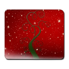 Christmas Modern Day Snow Star Red Large Mousepads