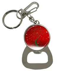 Christmas Modern Day Snow Star Red Button Necklaces
