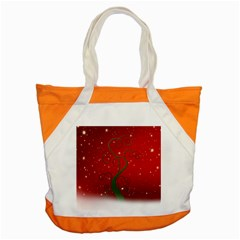 Christmas Modern Day Snow Star Red Accent Tote Bag