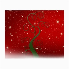 Christmas Modern Day Snow Star Red Small Glasses Cloth (2-Side)