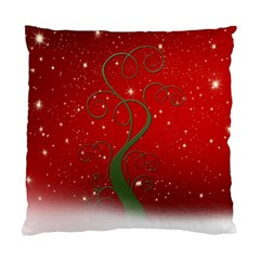 Christmas Modern Day Snow Star Red Standard Cushion Case (One Side)