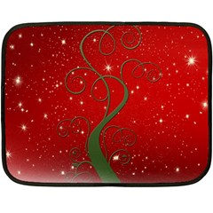 Christmas Modern Day Snow Star Red Fleece Blanket (Mini)