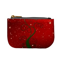 Christmas Modern Day Snow Star Red Mini Coin Purses