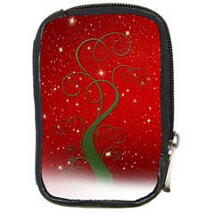 Christmas Modern Day Snow Star Red Compact Camera Cases