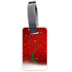 Christmas Modern Day Snow Star Red Luggage Tags (Two Sides)