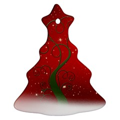 Christmas Modern Day Snow Star Red Ornament (Christmas Tree)