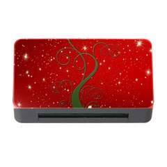 Christmas Modern Day Snow Star Red Memory Card Reader With Cf