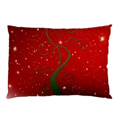 Christmas Modern Day Snow Star Red Pillow Case (two Sides)
