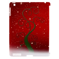 Christmas Modern Day Snow Star Red Apple Ipad 3/4 Hardshell Case (compatible With Smart Cover)