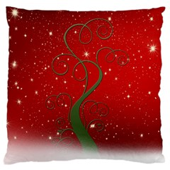 Christmas Modern Day Snow Star Red Large Cushion Case (one Side)