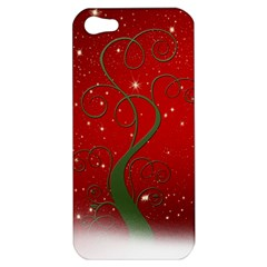 Christmas Modern Day Snow Star Red Apple Iphone 5 Hardshell Case