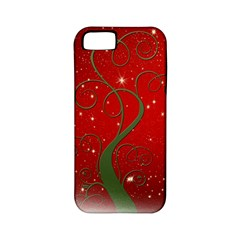 Christmas Modern Day Snow Star Red Apple iPhone 5 Classic Hardshell Case (PC+Silicone)