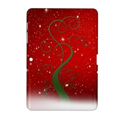 Christmas Modern Day Snow Star Red Samsung Galaxy Tab 2 (10.1 ) P5100 Hardshell Case