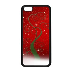 Christmas Modern Day Snow Star Red Apple iPhone 5C Seamless Case (Black)
