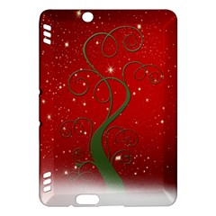 Christmas Modern Day Snow Star Red Kindle Fire Hdx Hardshell Case