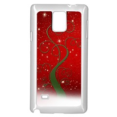 Christmas Modern Day Snow Star Red Samsung Galaxy Note 4 Case (white)