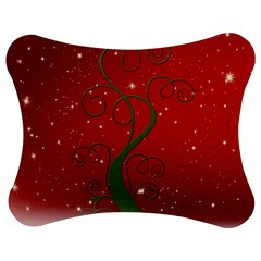 Christmas Modern Day Snow Star Red Jigsaw Puzzle Photo Stand (Bow)